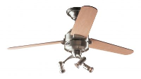 Hunter Carera Ceiling Fan In Brushed Nickel With Light Kit, DR And Remote