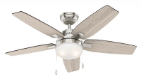 Hunter Arcot Ceiling Fan 117cm Brushed Nickel - New 2020