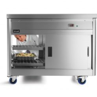 Lincat Panther 800 Series Free-standing Hot Cupboard - Bain Marie Top - 3GN - W 1205 mm - 2.8 kW