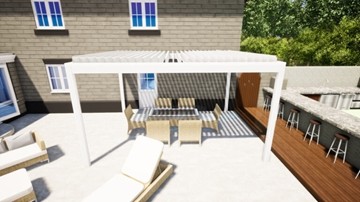 Aluminium Pergola Louvered Roofs In Kent