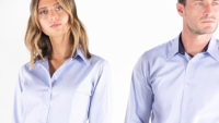 Women's contrast premium Oxford shirt long-sleeved (tailored fit)