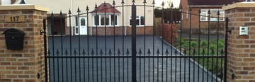 Automatic Wrought Iron Gates In Midlands
