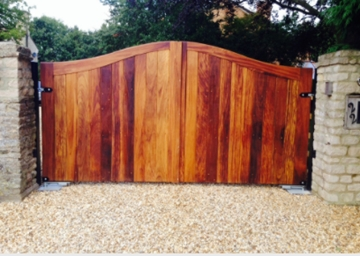 Scandinavian Redwood Pine Gate In Loughborough