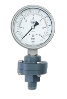 PVC: Chemical Seal Gauge With PVC Bolted Seal