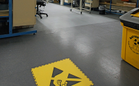 ESD Conductive Flooring System For Electronic Sub-Assembly Areas