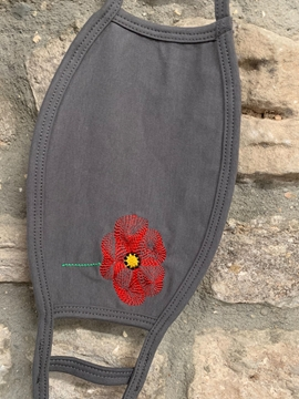 Double Layer Poppy Face Mask