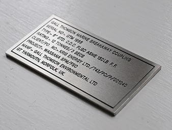 Custom Made Engraved Labels In Essex