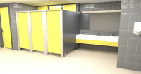 Installation Of INFINITY Cubicle System For Commercial Washrooms