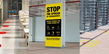 Social Distancing Floor Stickers & Signage Solutions