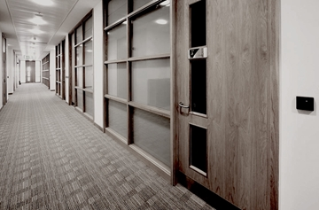 Timber Finished Partitioning System