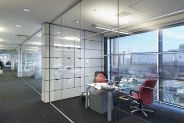 Fully Relocatable Frameless Partition System