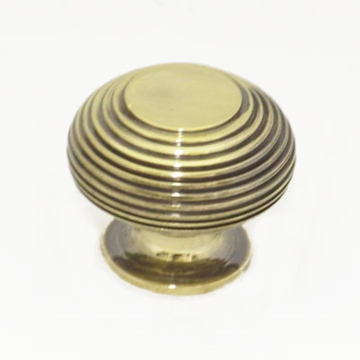Large Aged Brass Beehive Cupboard Knobs