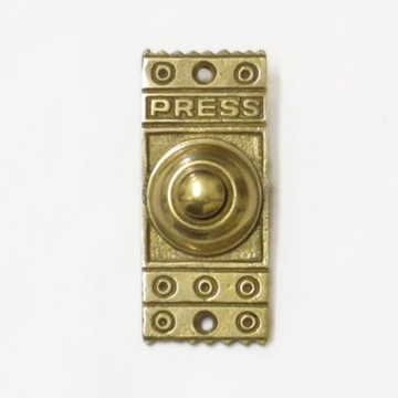 Brass Art Deco Door Bell Push