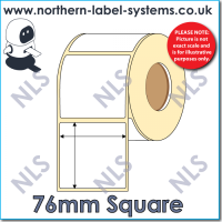 Thermal Transfer Label <br>Permanent Adhesive<br>76mm x 76mm<br><br> For Small Desktop Label Printers