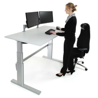 ActiveDesking Sit/Stand Workstation White & Silver