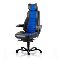 Controller Workchair - Part Black Leather, Part Xtreme Fabric