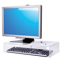Large Screen Stand with Keyboard Storage