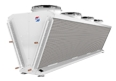 Compact V-Shape Dry Cooler For Industrial Use