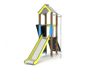 Timber Slide With Firemans Pole