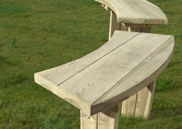 Curved Softwood Timber Bench