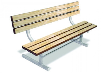 Traditional Wood Seat With Back