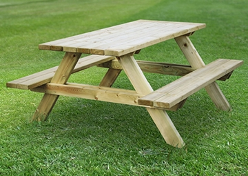 Traditional Wooden Picnic Table