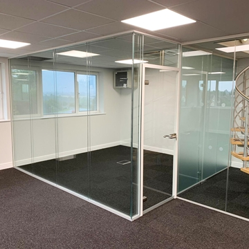 Double Glazed Glass Partitions