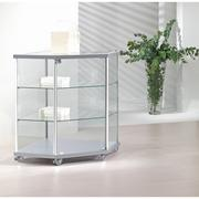 Corner Countertop Glass Showcase For Jewellery Displays