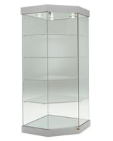Corner Display Cases With Lights For Product Displays
