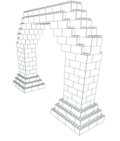 Arch - Detailed 7 Ft W Opening - 12 Ft 6 In x 3 Ft x 8 Ft 7 In