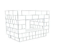 Bar - 5 x 3 x 3 Ft 7 In