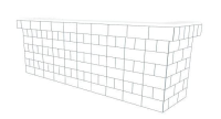 Bar - U-Shaped W/ 1 Layer Cantilever Wings - 10 Ft