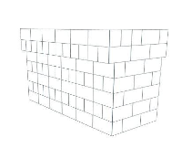 Bar - U-Shaped W/ 2 Layer Cantilever - 6 Ft