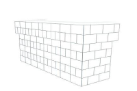Bar - U-Shaped W/ 2 Layer Cantilever Wings - 8 Ft