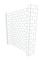 Booth - Back Wall - 10 Ft x 1 Ft 6 In x 8 Ft