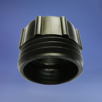 """ADAPTORFBSP2""""/ MALE 2"""" MAUSER - BLACK ADAPTOR FOR SYPHON /DRUM PUMP USE ON 2""""BSP FEMALE THREADS TO MALE 2"""" MAUSER THREAD"""