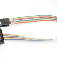 16pin 03in Knife Edge Test Clip and Cable with 25way D Plug