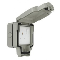 13A 1 Gang Weatherproof Switched Socket Double Pole, IP66, SWP4090-RCD