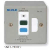 13A Fused Spur Units, Metal,SNE3 2130FS Unswitched with RCD