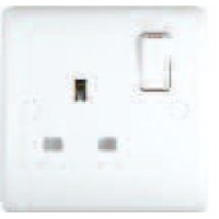13A Switched Sockets, 1 Gang, SP, wall fitting ST2011