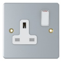 13A, 1 Gang Switched Socket, Metal Clad, SM2011