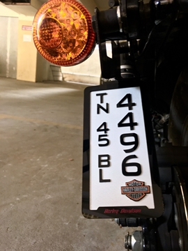 3D Motorcycle Number Plate Manufacturing