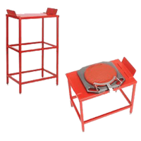 1 Metre Tall Wheel Alignment Tables with Heavy Duty Turnplates