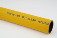 Large Bore Mandrel Built Yellow Rubber Air Hose