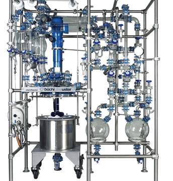 CR15-K Glass and Glass Lined Steel Jacketed Reactor