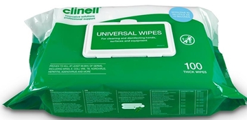 Clinell Universal Hand and Surface Wipes