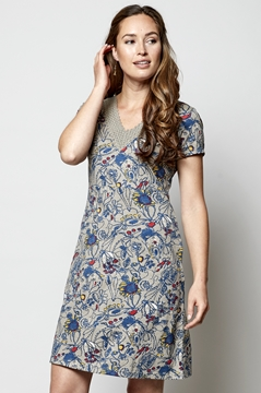 Crochet Trim Organic Cotton Tunic dress