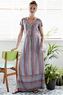 Zen Cap Sleeve Maxi Dress