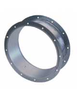 ASSG/F 315-450 smoke extract flexible connection in galvanized stee with aluminium-foil coated high temperature resistant glass fibre in accordance with EN 12101-3