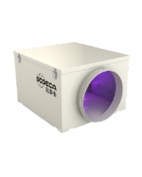 CG/LP-UVc-350-F7+H14 Hepa Germicidal chamber without fan for 350mm diameter duct with 4 UVc ultraviolet lamps, F7 filter, H14 Hepa filter. Ideal for installation in existing air conditioning and ventilation systems.